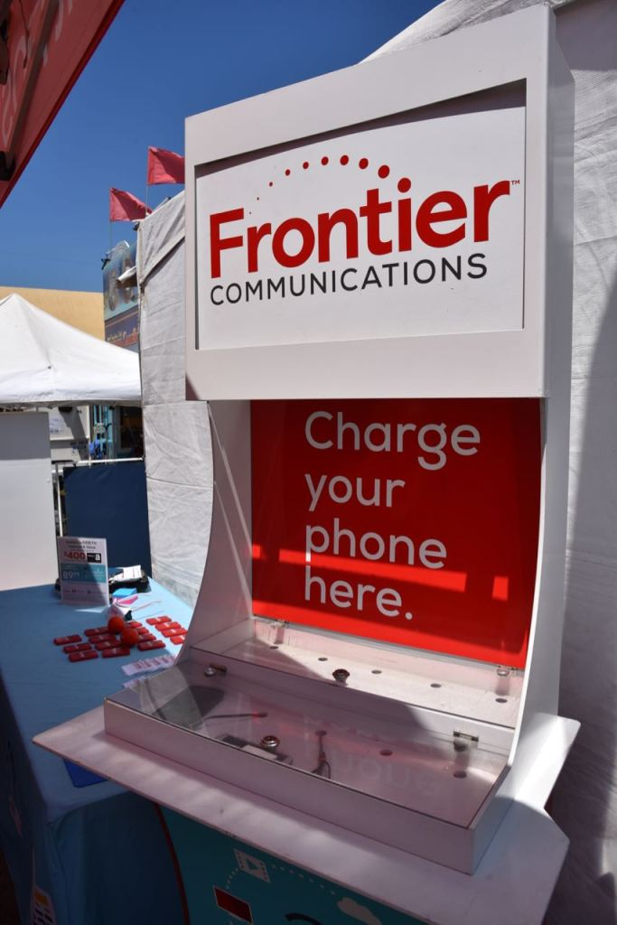 Free charging station at the fair