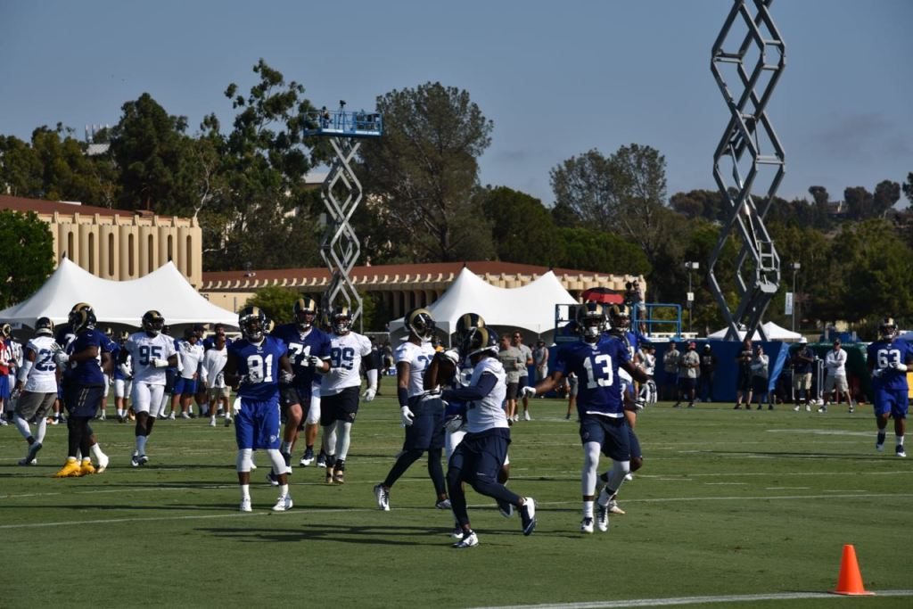 Loving watching the Rams Practice