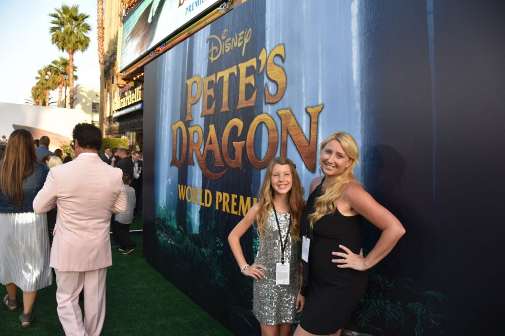 Mother Daughter Pete's Dragon Premiere