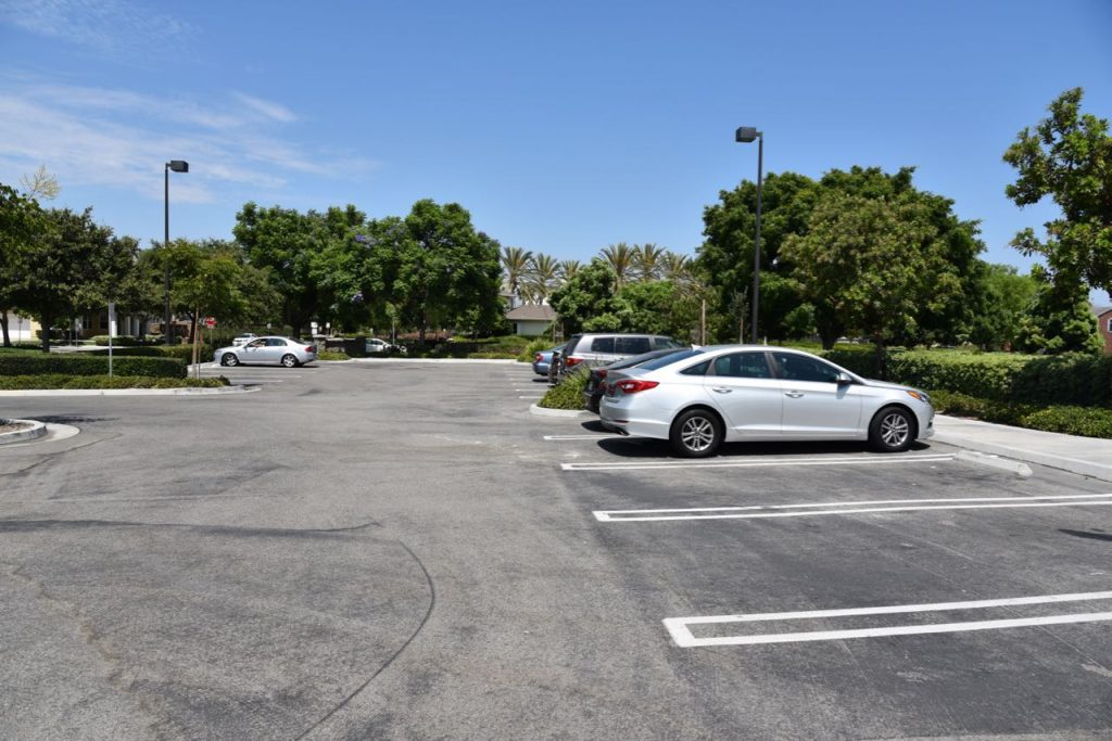 Parking at Sweet Shade Park