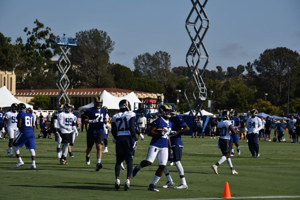Rams practice game