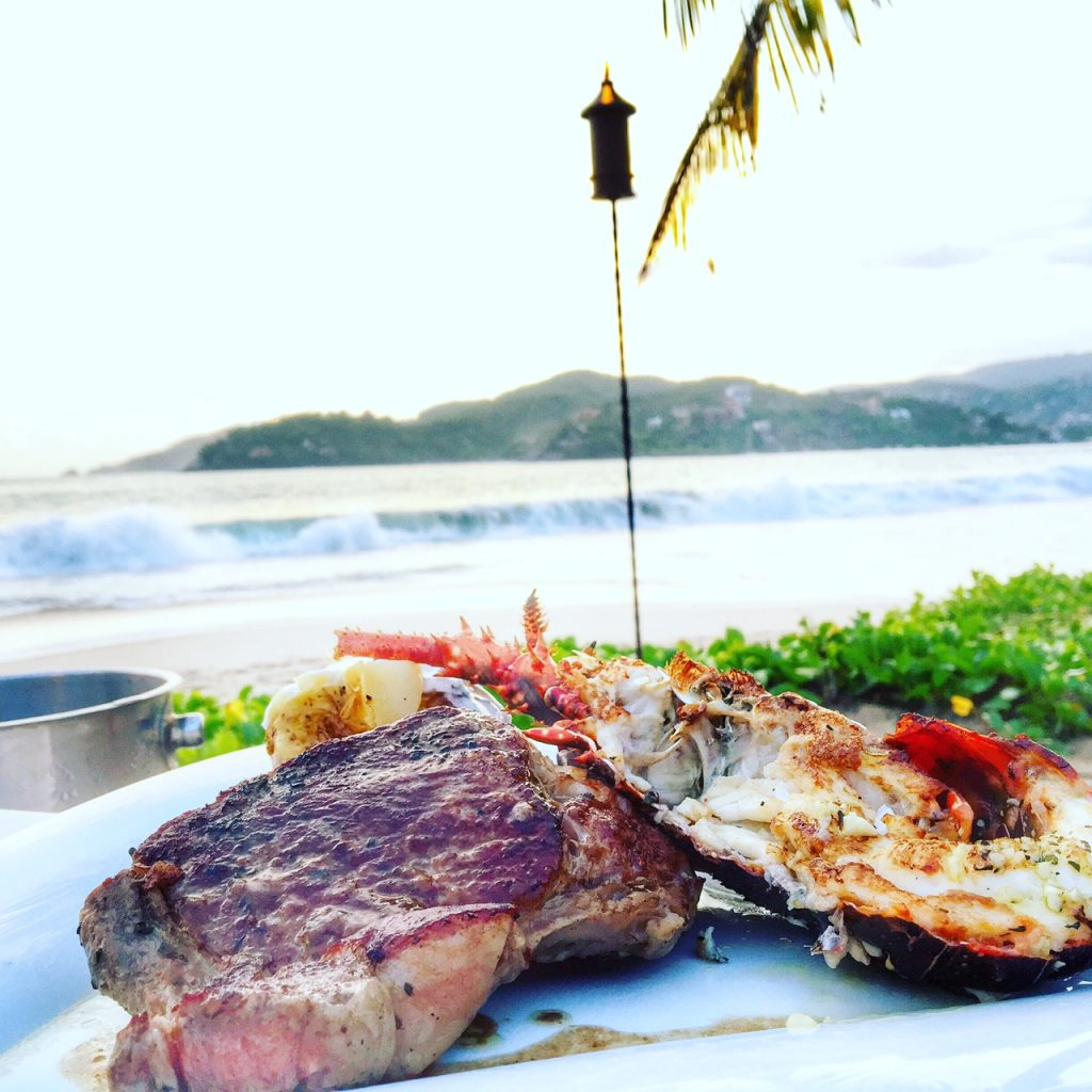 Surf and Turf dinner in Zihuatanejo