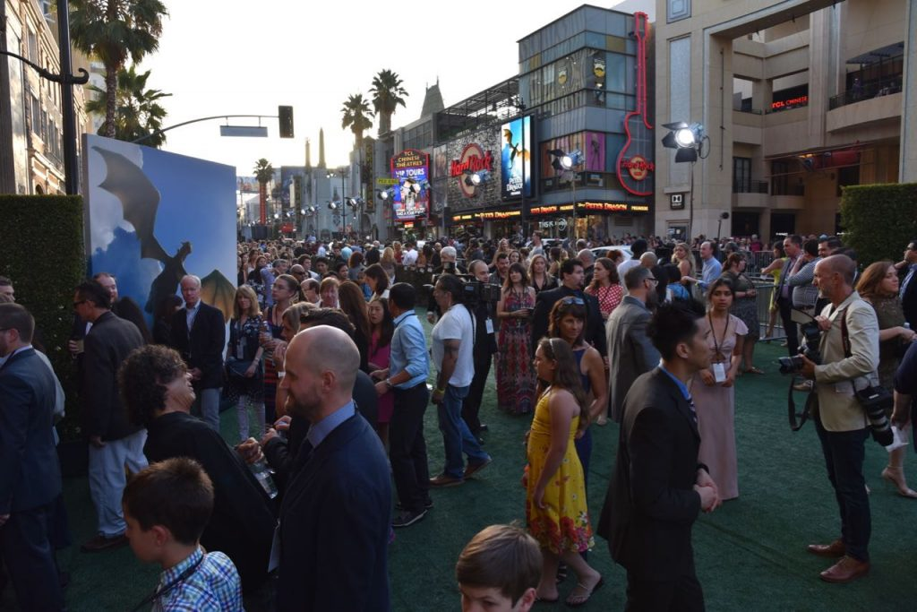 The crowd of people at the Pete's Dragon Premiere