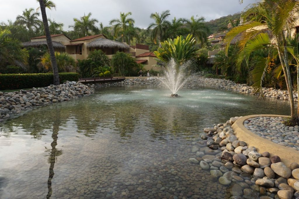 fountains at Viceroy Zihuatanejo