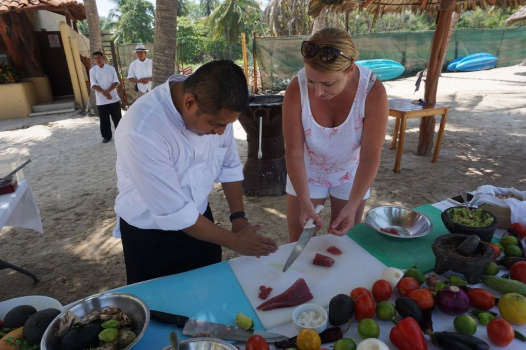 fun cooking class at Viceroy Zihuatanejo