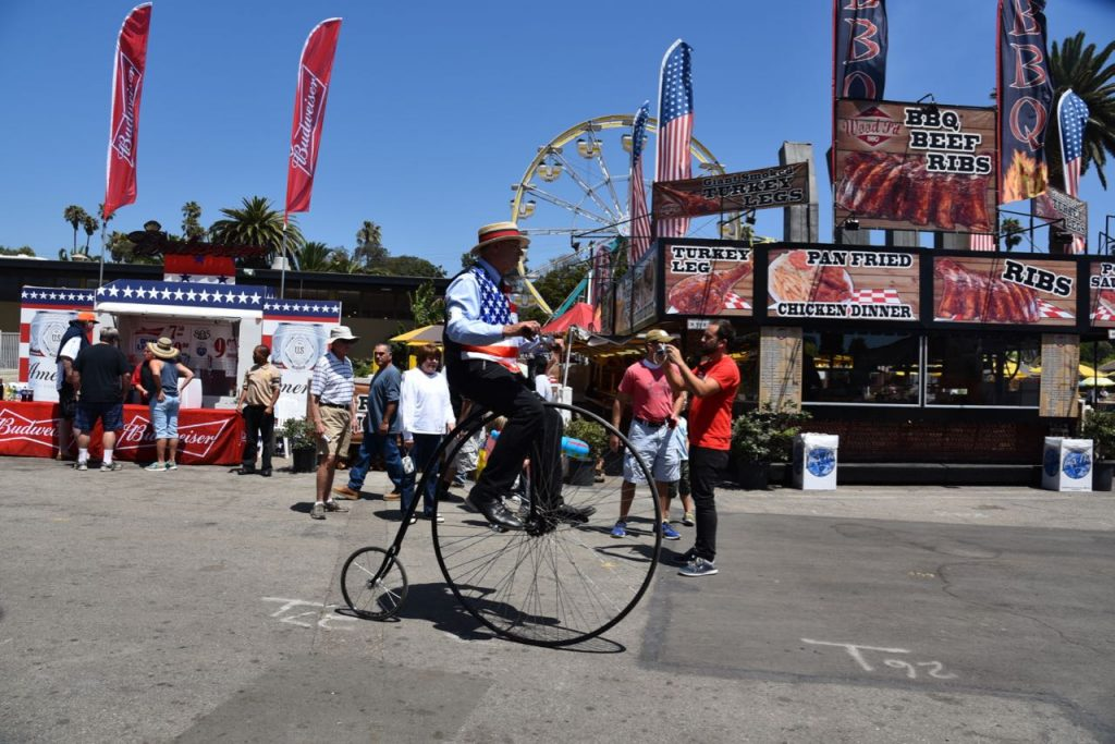 unicycle at the fair