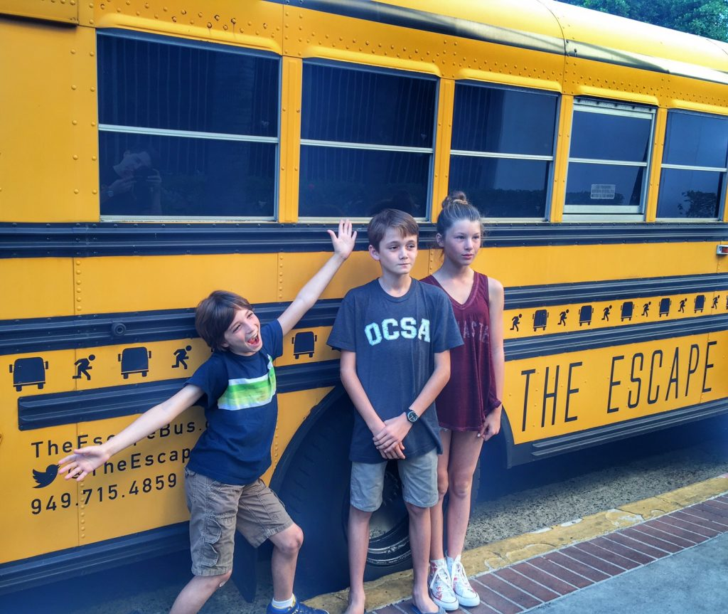 OC kids at The Escape Bus