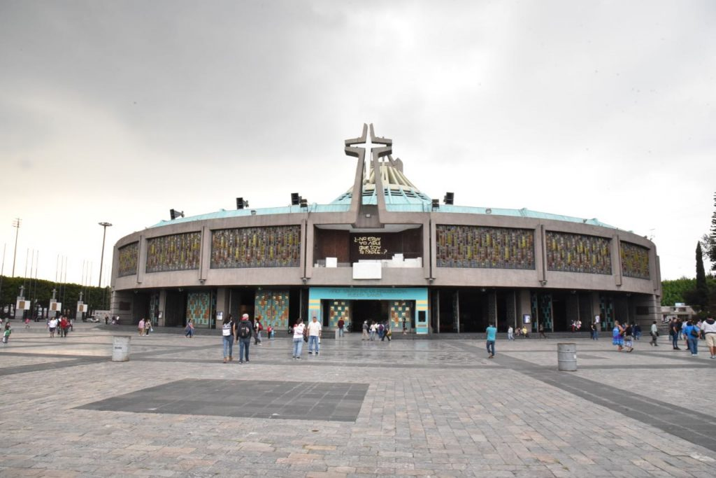The Front of The New Basilica of Our Lady of Guadalupe