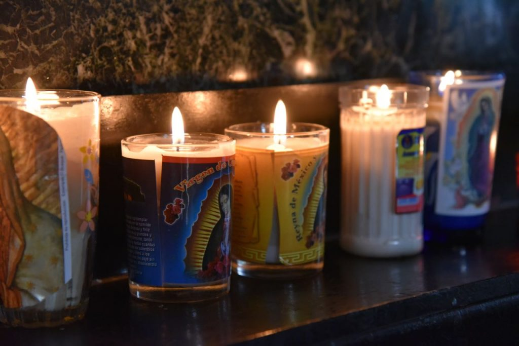 Candles Burning inside the Old Basilica of Our Lady of Guadalupe