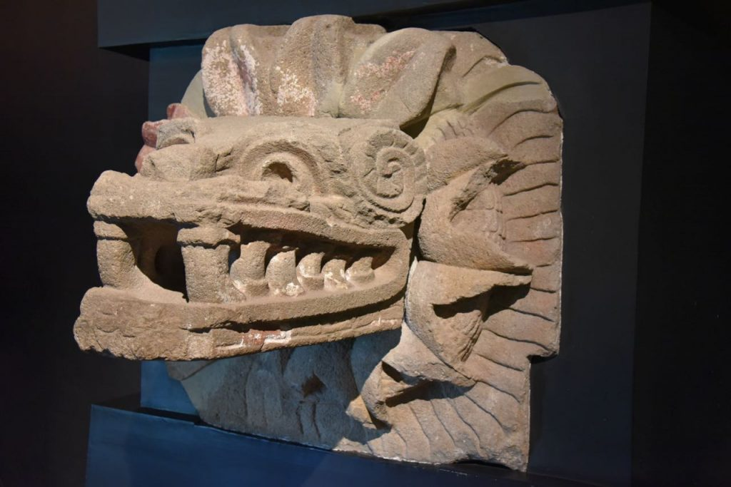Dragon Head Sculpture in Teotihuacan