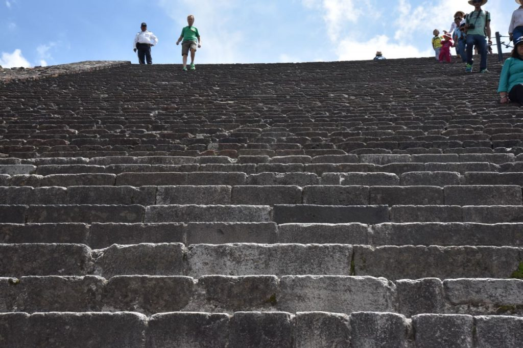 Stairs Leading up to the Top of the Pyramid of the Sun