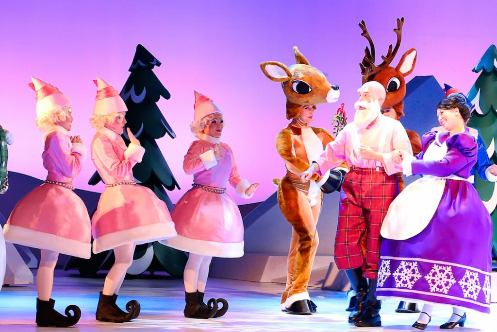 Santa, Mrs. Claus and the Reindeer in Rudolph the Red-Nosed Reindeer: The Musical
