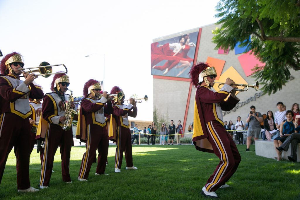 USC Marching Band at the OCSA College Fair