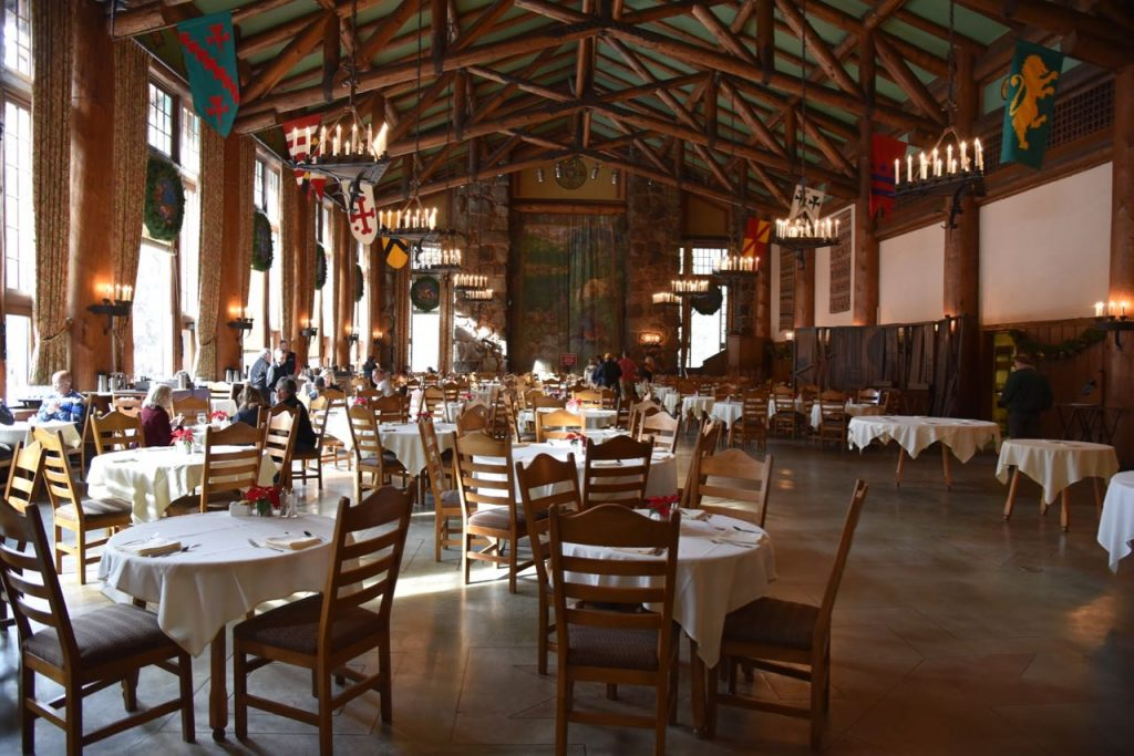 Dining room at the Majestic Yosemite Hotel