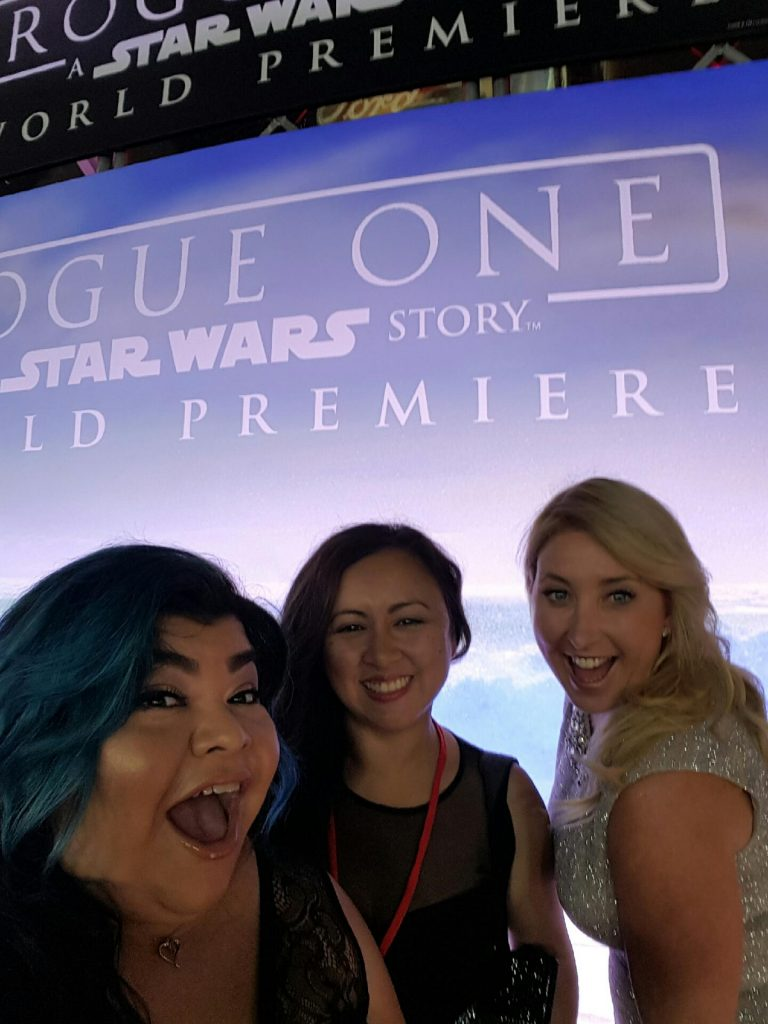 Excited to be at the Rogue one a Star Wars story World Premiere