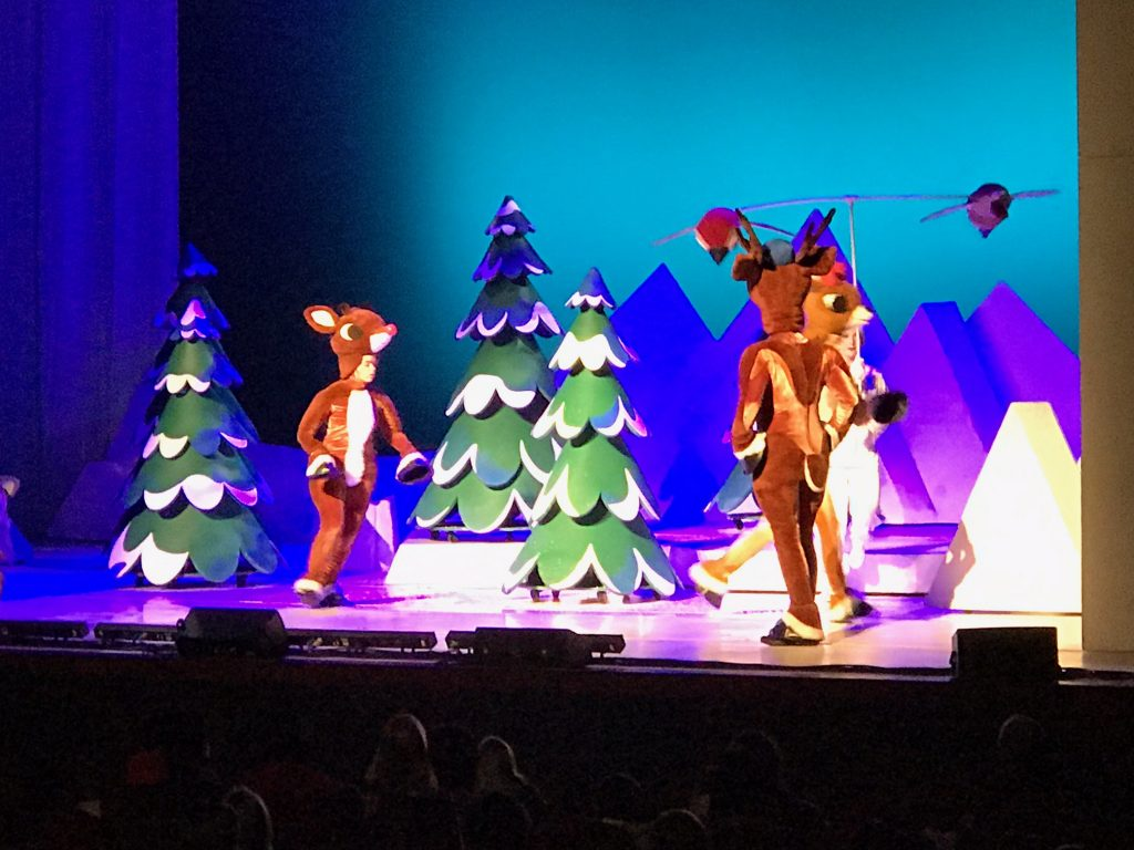 Family fun watching Rudolph the Red-Nosed Reindeer the Musical