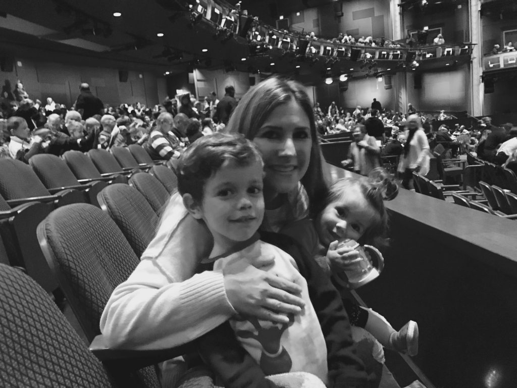 Jaclyn Holtz and kids at Rudolph the Red-Nosed Reindeer the Musical