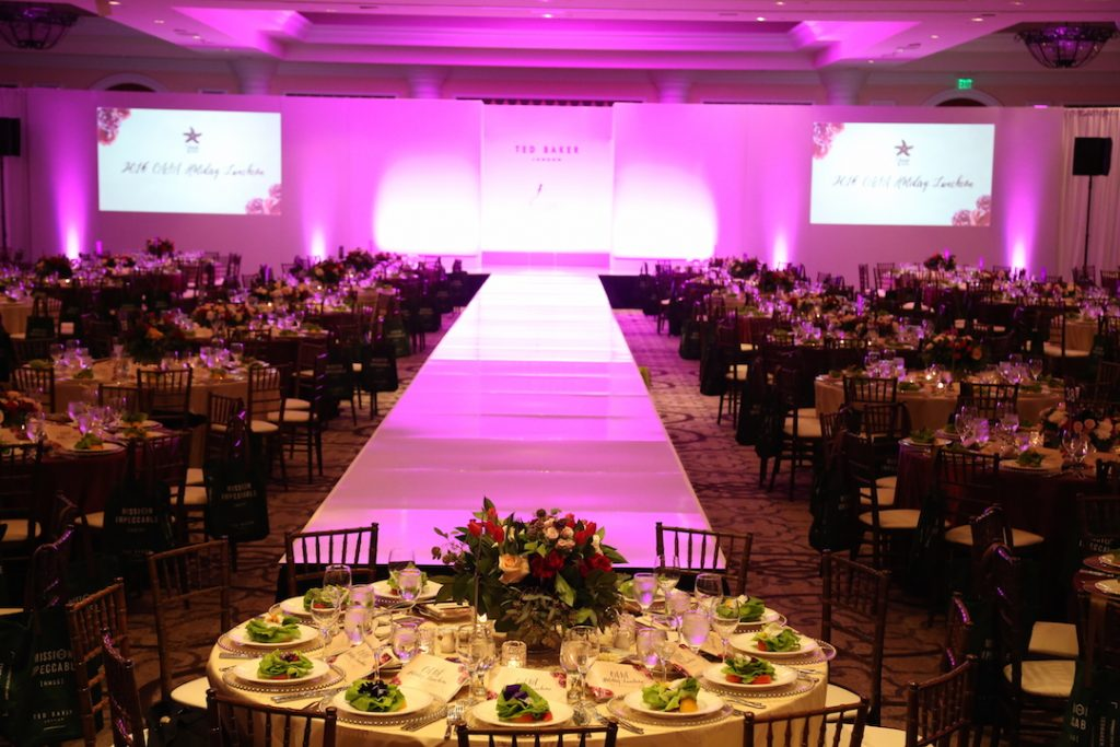 Placesetting Runway at CASA Holiday Luncheon