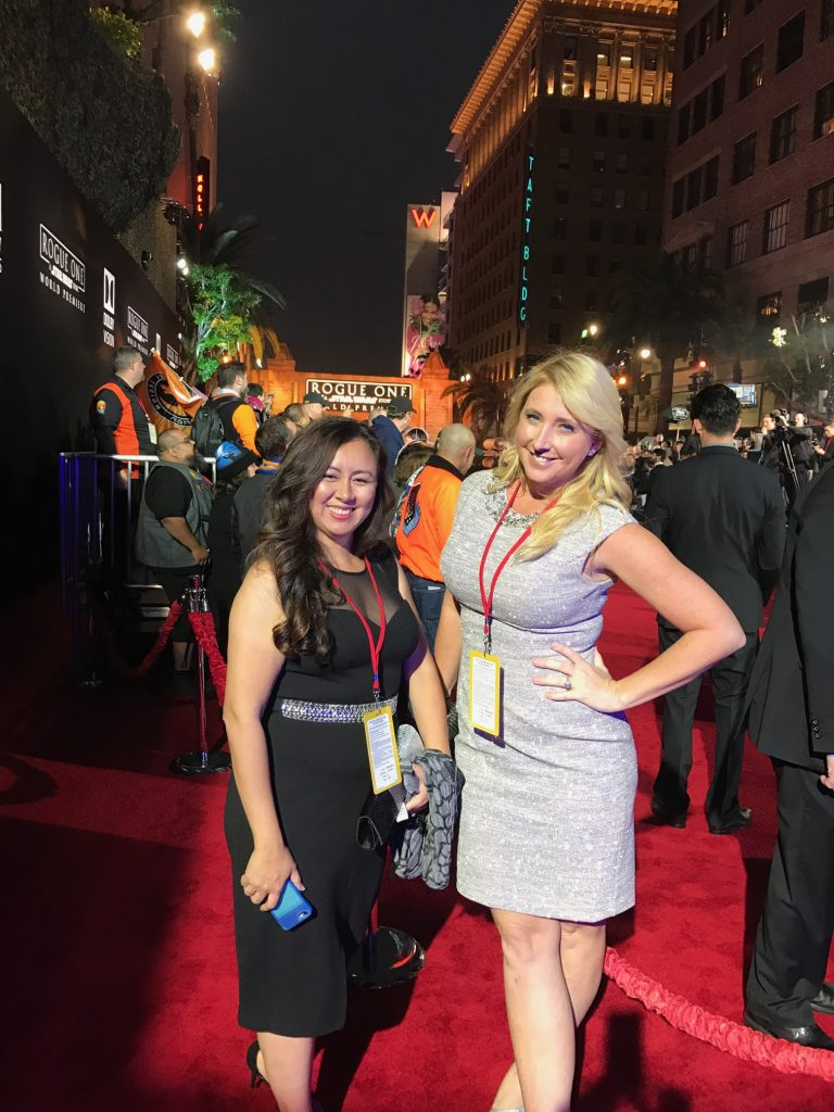 Shelby and Tee at the red carpet