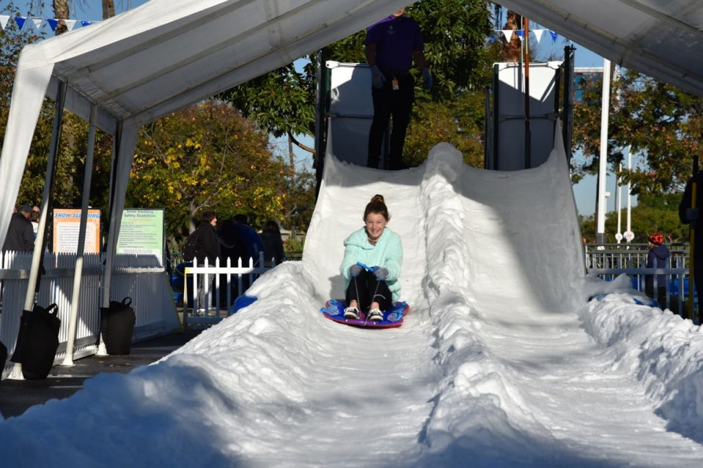 Sledding at Discovery Cube OC #DCOCwinter