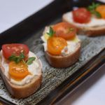 Asiago and Heirloom Tomato Crostini Recipe