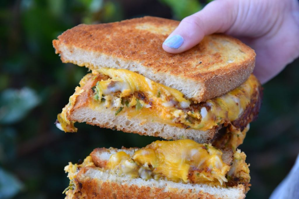 Blue Crab Grilled Cheese at TLT Food