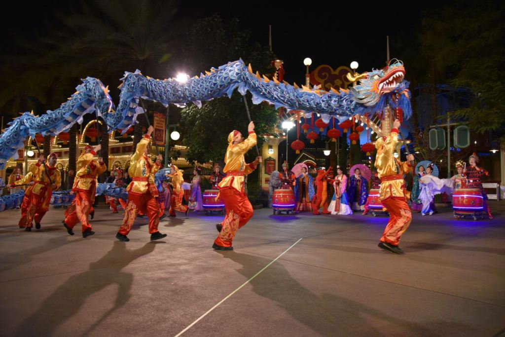 Chinese dragon at Disney's Lunar New Year celebration