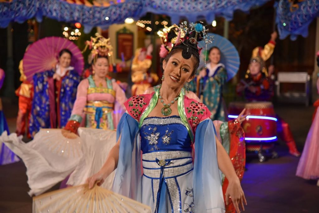 Dancers in the Mulan New Year Celebration