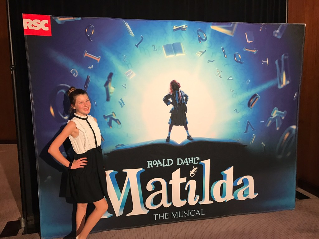 Ella Barone seeing Matilda at the Segerstrom Center