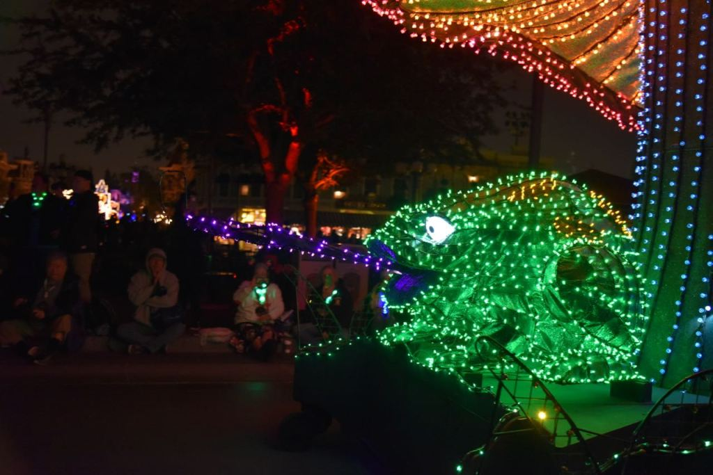 Frog in the Main Street Electrical Parade Premiere at Disneyland