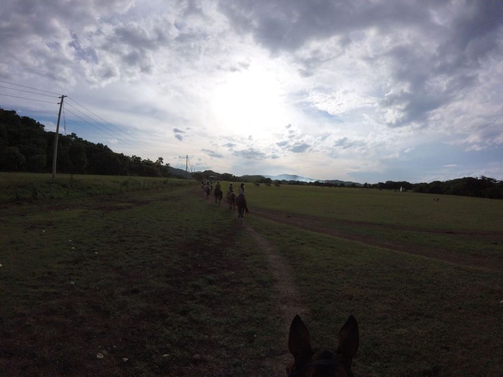 Horseback riding in the Jamaican countryside