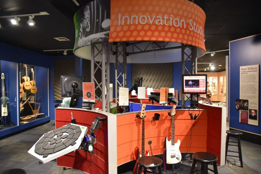 Interactive area at the Museum of Making Music in Carlsbad