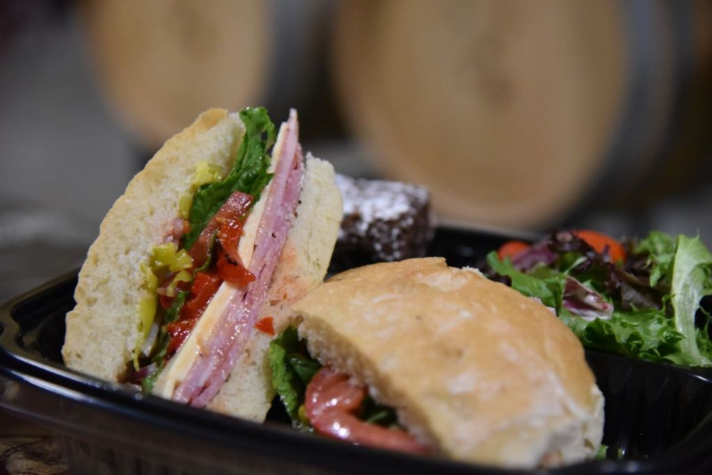 Italian Sandwich at Cougar Winery in Temecula