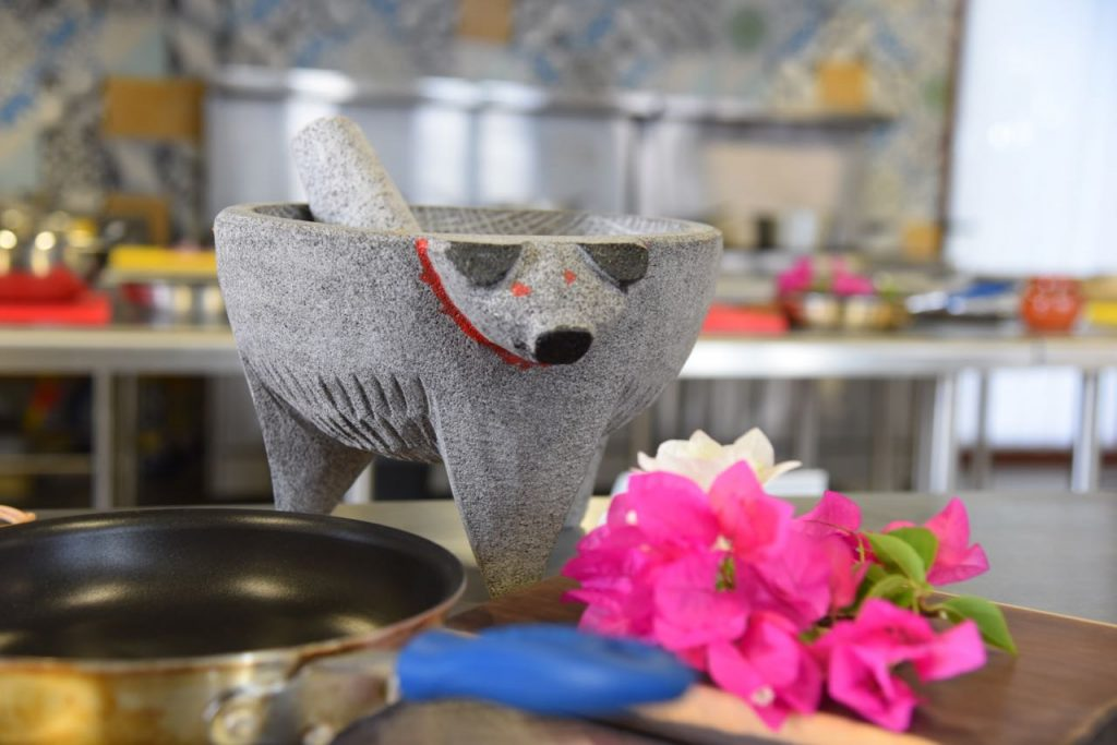 Learning how to cook in Mayakoba