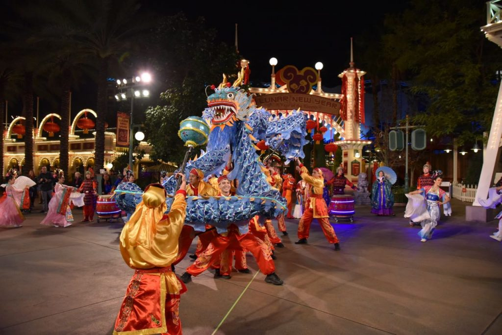 Magical Chinese dragon at Disney California Adventure Park