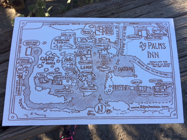 Map of 29 Palms Inn