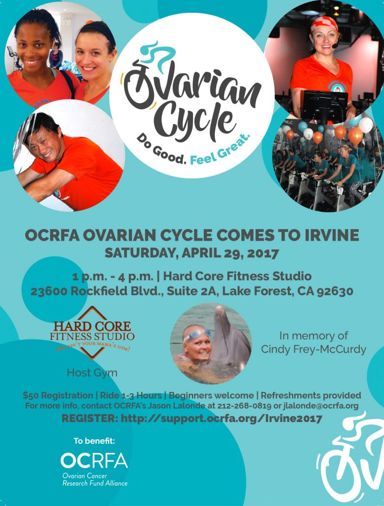 Ovarian Cycle Fundraising event in Orange County