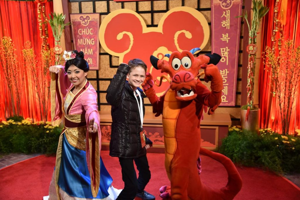 Photo opportunity with Mulan at the Lunar New Year Celebration at Disney California Adventure Park