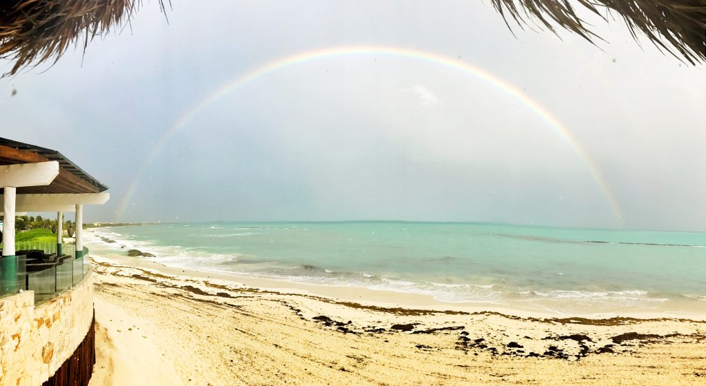Rainbow at Fairmont Mayakoba Mexico