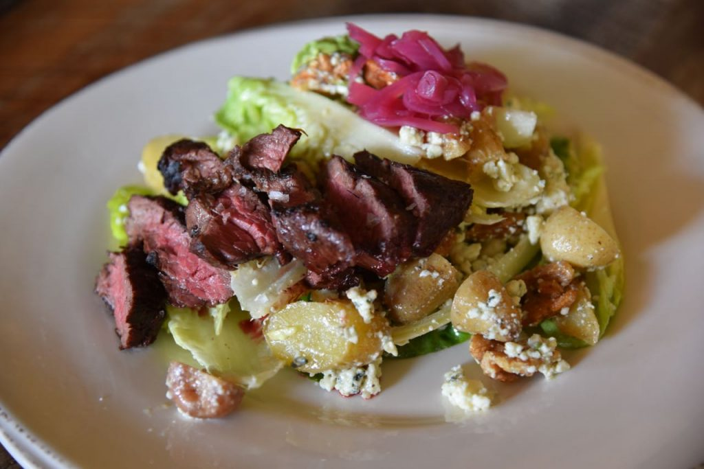 Steak Salad at The Farmhouse at Rogers Gardens
