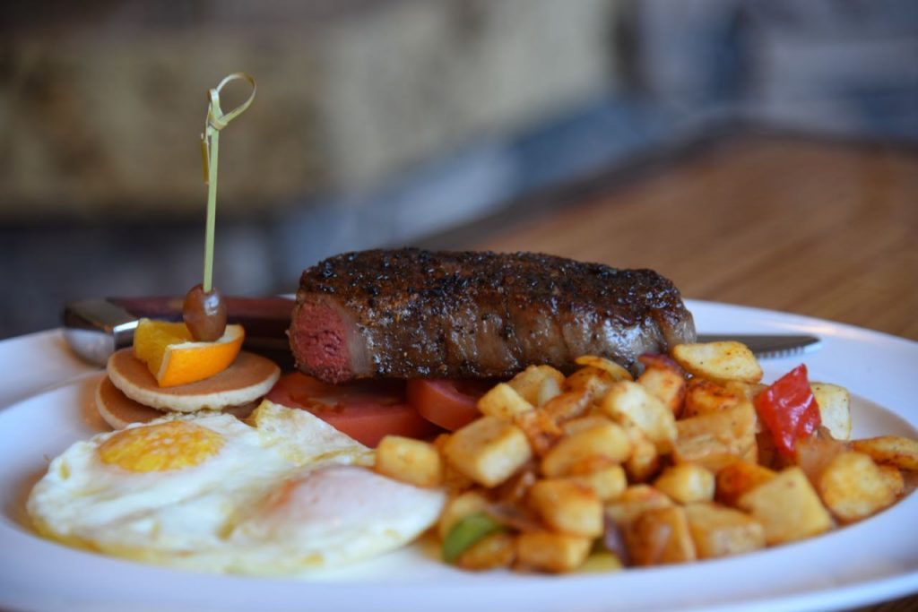 Steak and Eggs at Journey's End at Pechanga
