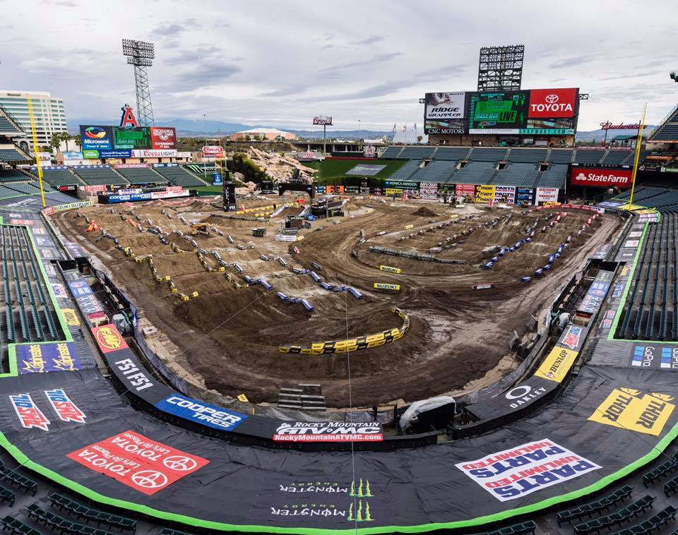 Supercross at Angel's Stadium
