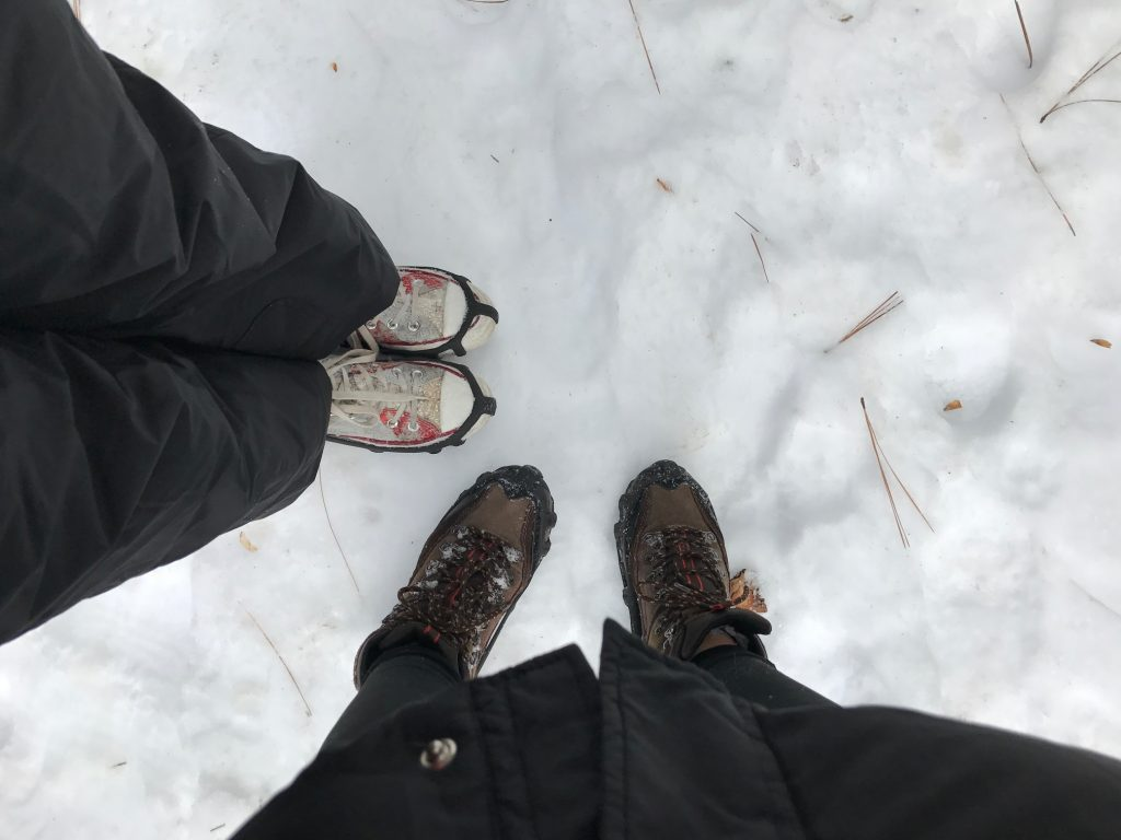 snowshoe hiking in Yosemite