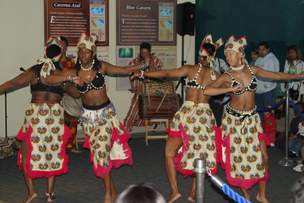 African American dancing at The Aquarium of the Pacific