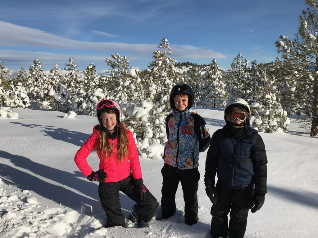 Barone Kids having fun in Mammoth