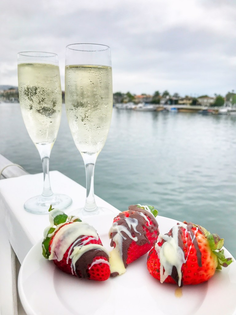 Champagne and Strawberries on a Hornblower Cruise