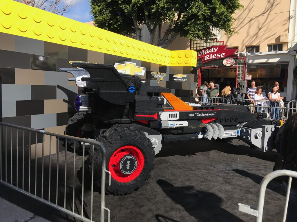 Chevrolet Batmobile on the red carpet of The Lego Batman Movie Premiere