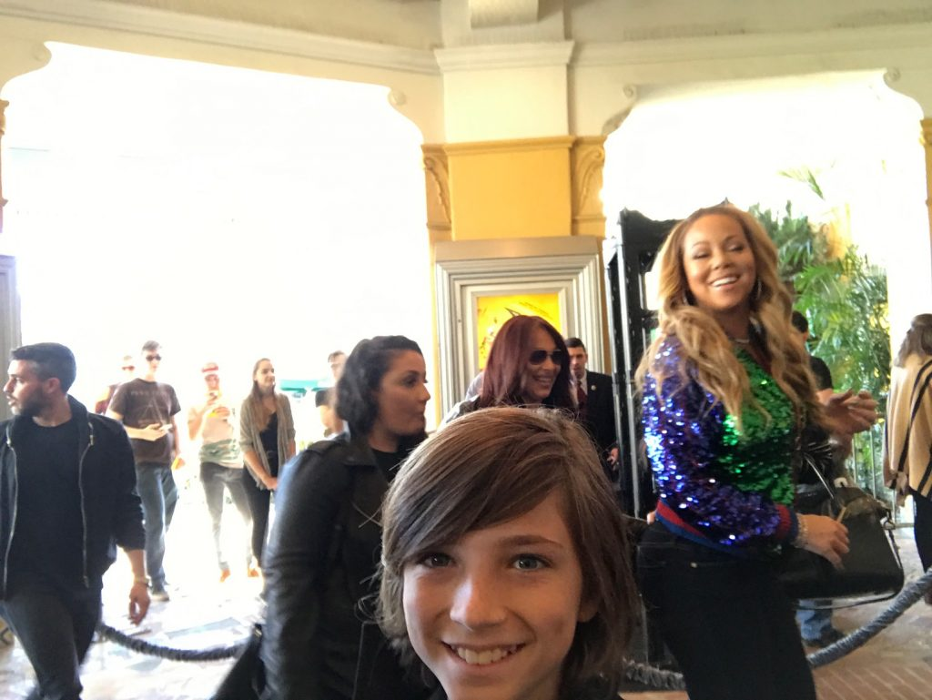 Selfie with Mariah Carey at The Lego Batman Movie Premiere
