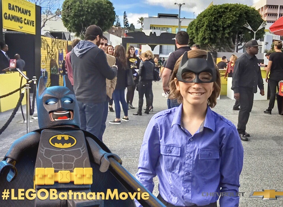 Tyler at The Lego Batman Movie World Premiere