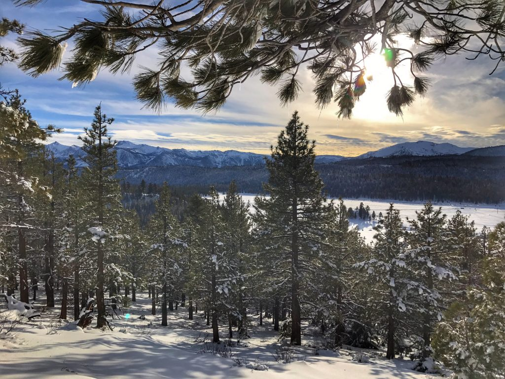 Views of Mammoth from Snowmobile Trail